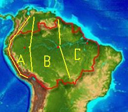Mapa Amazonii