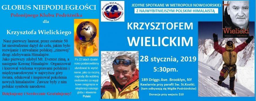 Globus Niepodległości dla Krzysztofa Wielickiego